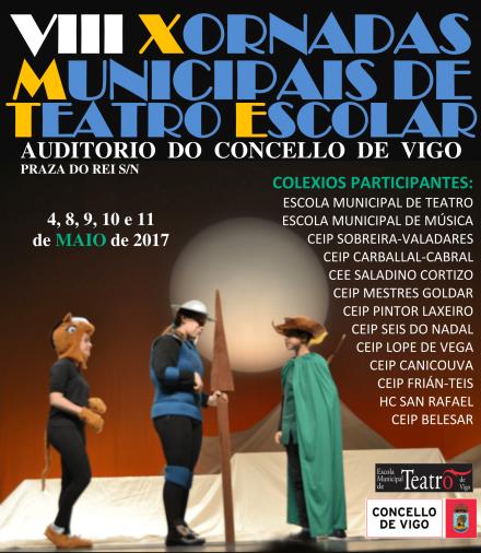 Cartel VIII Xornadas Municipais de Teatro Escolar