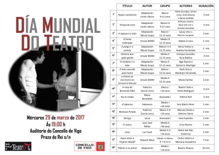 Programación Día Mundial do Teatro (versión web) galego